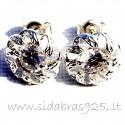 "Earrings with Zirconia ""Gėlytė B"""