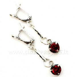 """Earrings with red Zircon """"RADA"""""""