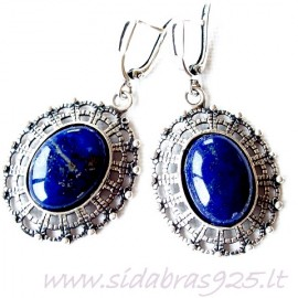 Earrings with Lazurite A535