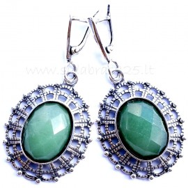 Earrings with Jade A535