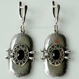 Earrings with Onyx A010