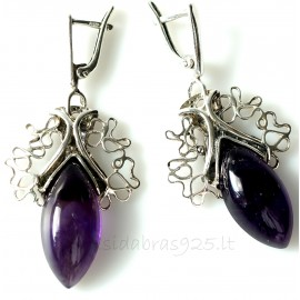 Earrings with Amethyst A570