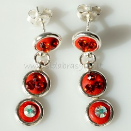 """Earrings with Swarovski """"Red"""""""