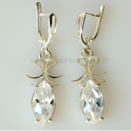 "Earrings with Zirconia ""Markyzė"" A114"
