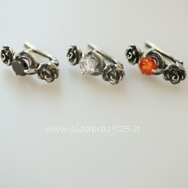 Earrings with Zirconia A138