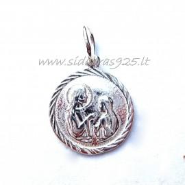 Pendant religious medallion P378