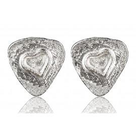 """Earrings minimalist """"Two hearts"""" A745"""