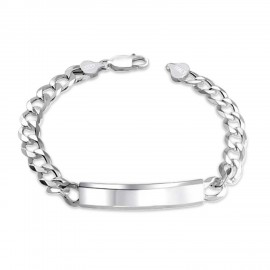 "Chain ""Italian bracelet with plate"""
