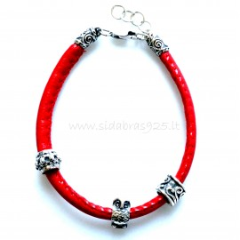 Bracelet with red rope AP5,2mm