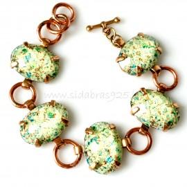 Bronze bracelet with copper rings BAP