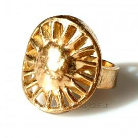 "Bronze ring ""Saulė"" BŽ042"