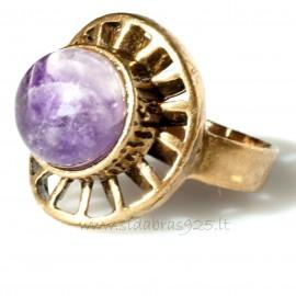 Bronze ring Ametist BŽ042