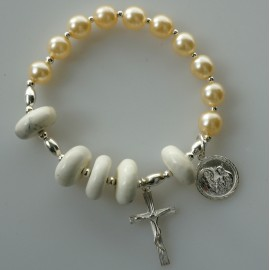 Rosaries on hand with Howlite and Pearls