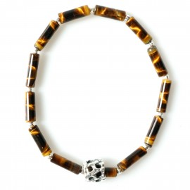 Bracelet with natural tiger stone