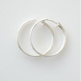 Earrings Hoop small matte, shiny ADAR