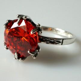 """Ring with Zirconia Ž100 """"Orange"""""""