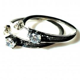 Earrings Hoop with Zircon Original A734