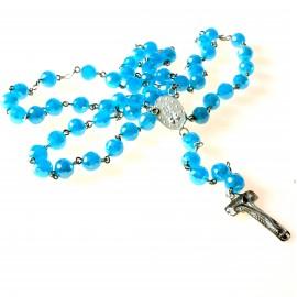 Rosaries with blue Swarovski