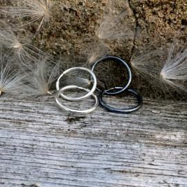 """Earrings Hoop """"Gabija AR-2,5 cm"""""""