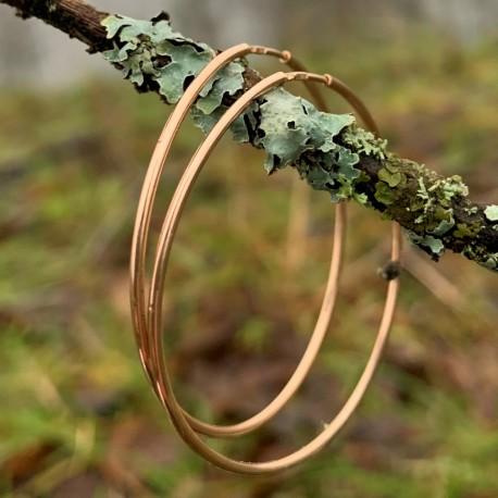 """Gold earrings Hoop """"AuGužė 4"""""""