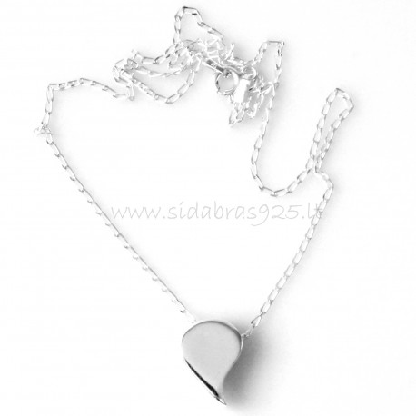"""Pendant """"Heart without loop"""""""