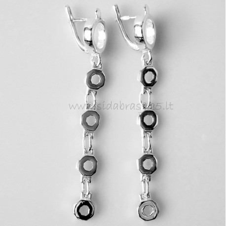 Earrings with 4 wheels