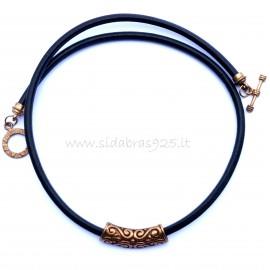 Bronze necklace with pendant BKJ