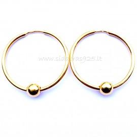 "Earrings gold plated with bubble ""Gabija ARA -2.5 cm"""