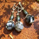 Unique jewelry - set with Agate and Hematite