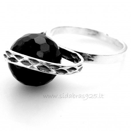 Ring is tall with a round onyx