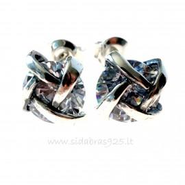 Earrings with white Zircon