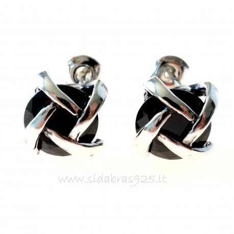 Earrings with black Zircon