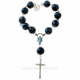Rosaries on hand with Snow Obsidian
