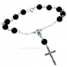 Rosaries on hand with onyx RRHE