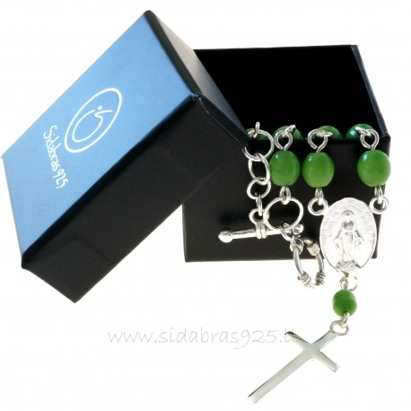 Rosaries on hand with green cat eye stones