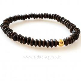 Bracelet with serpentine stone