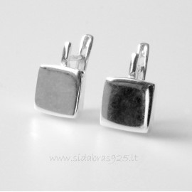 Earrings minimalist square with a rod